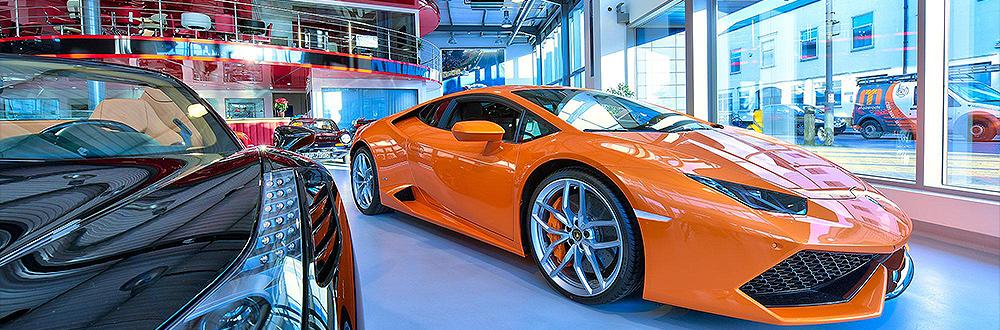 HDR image of Lamborghini