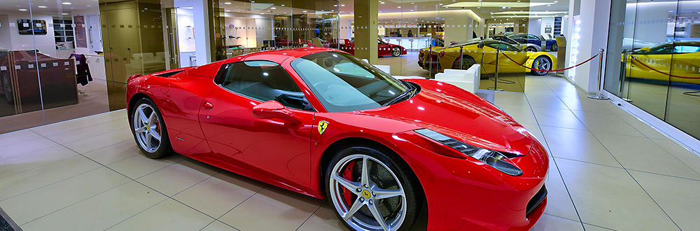 Photograph of a Ferrari 458